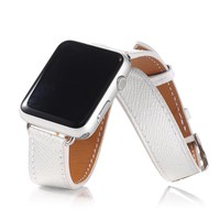 New fashion double circle strap for i watch genuine leather band for apple watch replacement official colors giving connector