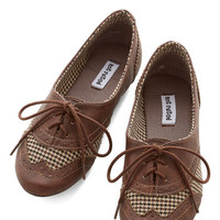 ModCloth Menswear Inspired Studious Style Flat in Brown