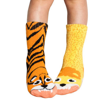 MISMATCHED Kid's Lion vs. Tiger Socks