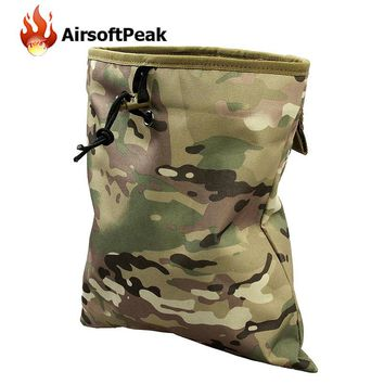 Tactical Molle Magazine Pouch Mag Drop Dump Pouch Airsoft Paintball Military Recovery Hunting Bag Slingshot Ammo Bags