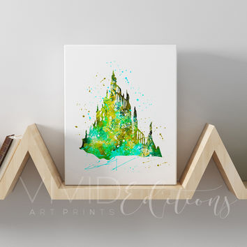 Little Mermaid Castle Gallery Wrapped Canvas