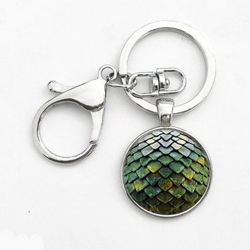 New Steampunk Game of Thrones Dragon Egg Pendant Key Chain dr doctor who 1pcs/lot chain mens toy vintage 2017 charming Key ring