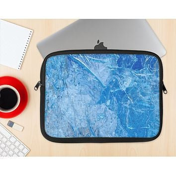 The Deep Blue Ice Texture Ink-Fuzed NeoPrene MacBook Laptop Sleeve