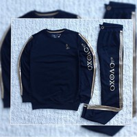 ABKUYOU OVO Dark Blue Sweater Tracksuit