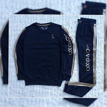 ABSPBEST OVO Dark Blue Sweater Tracksuit