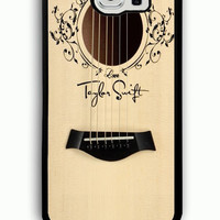 Samsung Galaxy S6 Case - Rubber (TPU) Cover with Taylor Swift Guitar Rubber case Design