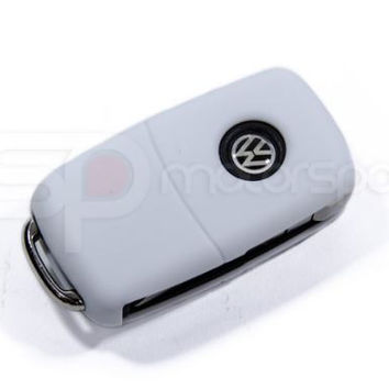 Key Fob Cover (Volkswagen Models)- White Silicone