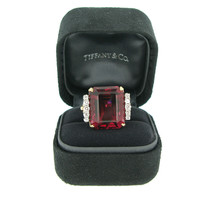 Rubellite and diamond ring by Tiffany & Co, circa 1960s