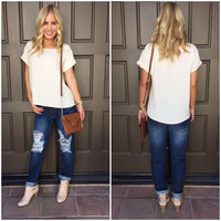 Crepe Luxe T-Shirt Blouse