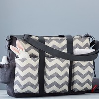 Chevron Skip Hop Double Duo Diaper Bag