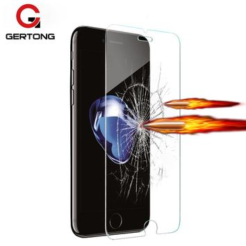 GerTong Tempered Glass Protective Film For iPhone 4 4s 5 5c 5s SE 6 6s plus 7 7plus 8 Plus Mobile Phone Screen Protector Cover
