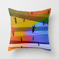 Tightrope Throw Pillow by Tony Vazquez