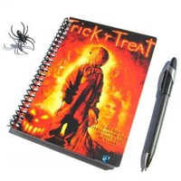 Halloween Notebook Trick r Treat UpCycled Horror Movie Journal Sam by PopCulturePlanners