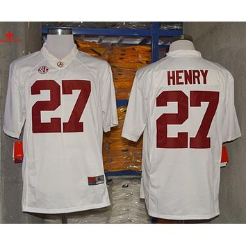 No. 27 Derrick Henry Diamond Quest Alabama Crimson Tide Nike 2015 College Football Playoff Sugar Bowl Special Event Jersey - Red