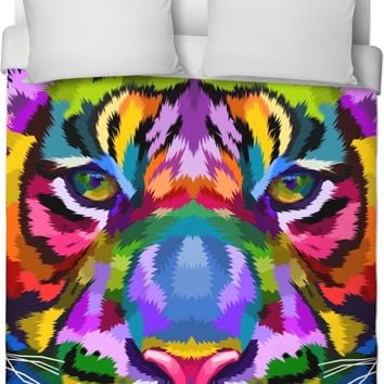 ROB Tigers Face Duvet Cover