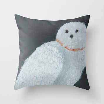 The Snowy Owl Throw Pillow by Lindsay