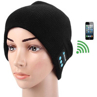 Winter Fashion Knitted Hat Wireless Bluetooth Cap Headset Music Speaker = 1843139844
