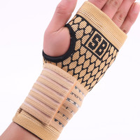 Elastic terylene latex material basketball volleyball palm hand bandage support  free shipping #ST3011
