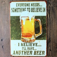 New Vintage Beer Wine Metal Picture Poster Tin Sign Wall Posters For Plaque Pub Bar Home Wall Decors