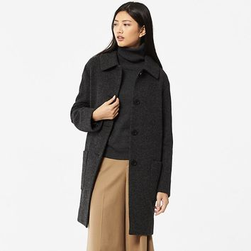 WOMEN WOOL BLENDED COCOON COAT | UNIQLO