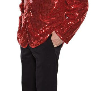 Sequin Jacket Red Adult One Sz