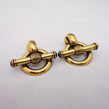 ERMANI BULATI Clip on Earrings, Designer Clip on Earrings, Large Ermani Bulatti Clip on Earrings