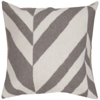 Gradient Stripes Gray Modern Wool Pillow