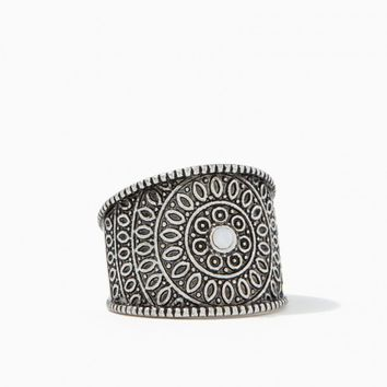 Mid Stone Burnished Ring | Charming Charlie