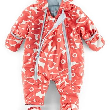 Infant Girl's Mini Boden Floral Print Snowsuit,
