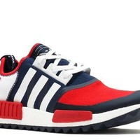Ready Stock Adidas Wm Nmd Trail Pk White Mountaineering Navy Red White Sport Running Shoes