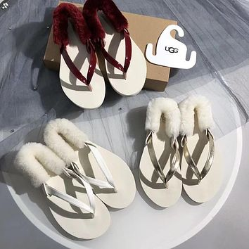 shosouvenir  【UGG】(two wear) The sandals were dragged with rabbit hair