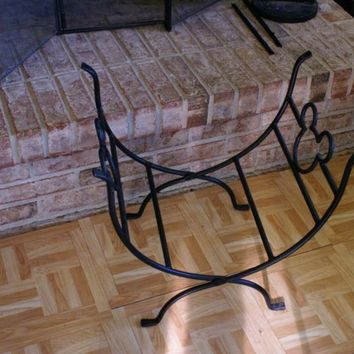 Disney Mickey Mouse Wrought Iron Fireplace Accessory Log Holder