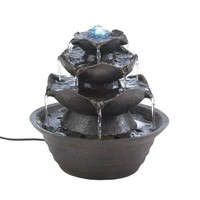 Gorgeous Lotus Flower Tabletop Water Fountain Decor