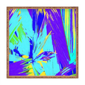 Rosie Brown Blue Palms 1 Square Tray