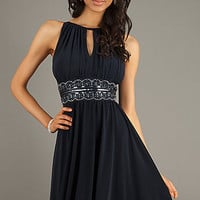Sleeveless High Neck Cocktail Dress