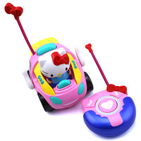 New baby boys girls Remote Control Electric toy car kids RC Car High speed Cute cat musical light Child Car toys Color random