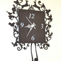 Forest cuckoo clock choose your own colour by ikandi11 on Etsy