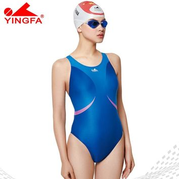 Yingfa 2018 professional swimsuit girl's training arena  swimwear chlorine resistant one piece bathing suit competition