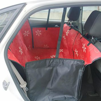 Waterproof Carrier Car Seat Cover Fold Pet Dog Safety Travel Hammock Blanket Two Seat 7 Color