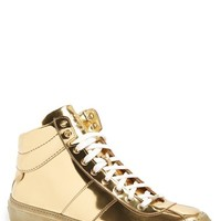 Men's Jimmy Choo 'Belgravi - Mirror' Metallic High-Top Sneaker,