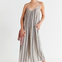 UO Shapeless Gauzy Striped Jumpsuit | Urban Outfitters