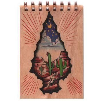 Wood Notepad Arrowhead Small