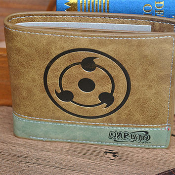 Naruto Wallet With Coin Pocket Zipper Pouch