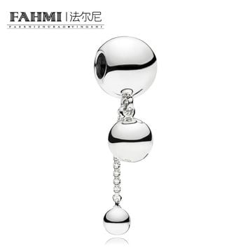 FAHMI 100% 925 Sterling Silver New 797521 String of Beads Hanging Charm Original Women's Jewelry Suitable Charming Gift