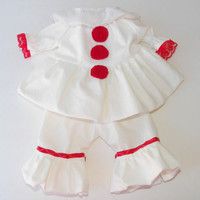 "Clothes Pennywise Inspired Costume Handmade for Bitty Baby or 16"" Baby Born Doll"