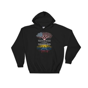American Grown With Venezuelan Roots - Hooded Sweatshirt