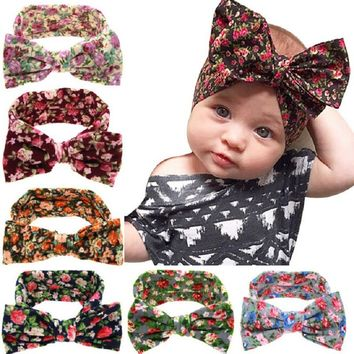 Cute Child Cotton Headband Girls Knotted Head Wraps Knit Flower Head Wrap Headbands for Children Hair Accessories 1pc HB508