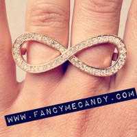 Infinity Ring by Fancy Me Candy