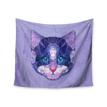 "Ancello ""Cute Kitten"" Purple Cat Wall Tapestry"