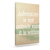 "Rachel Burbee ""Adventure"" Nature Typography Canvas Art"